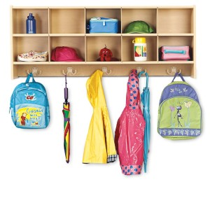 Young Time® 10 Section Wall Mount Coat Locker