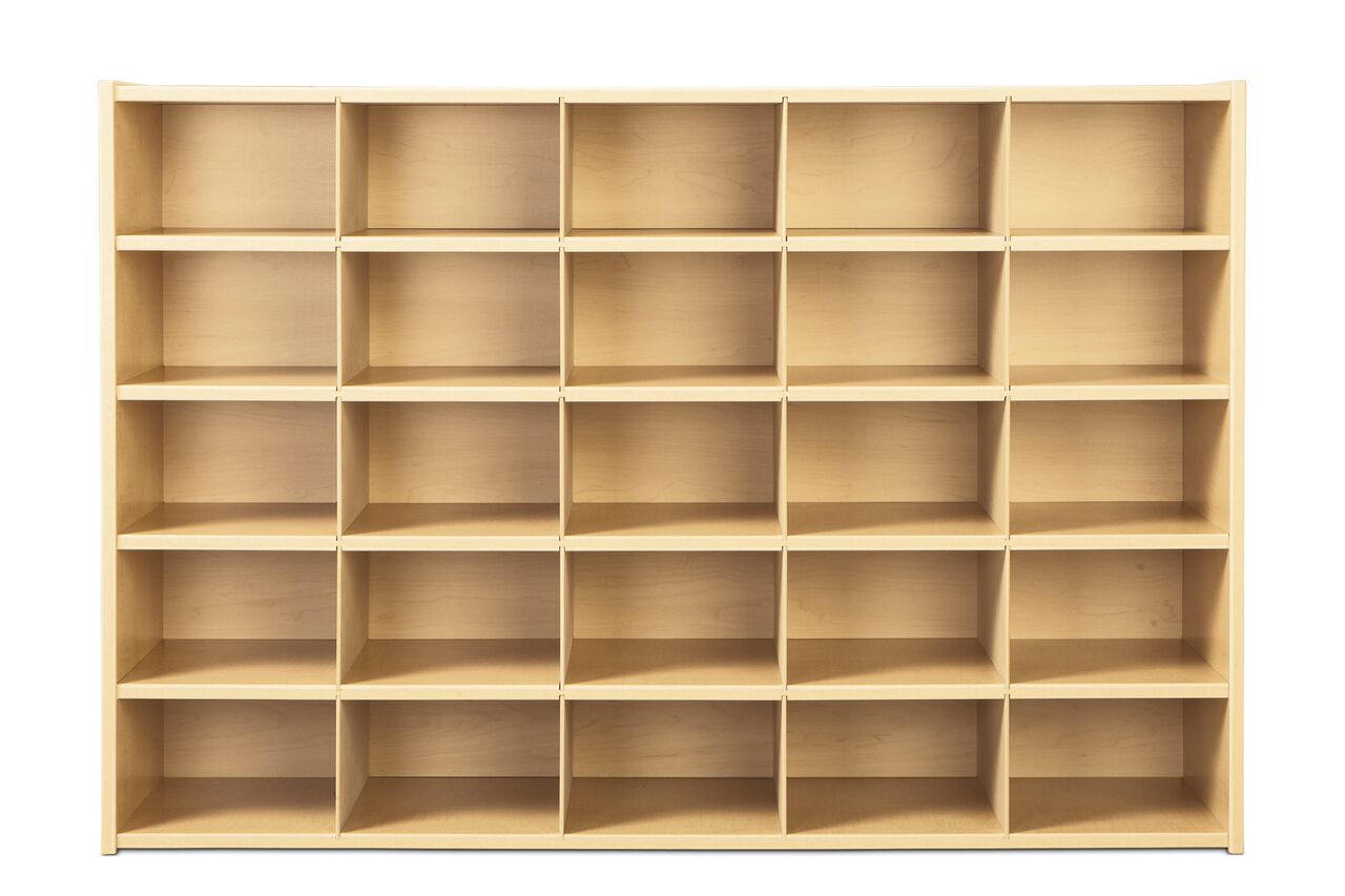Young Time® 25 Cubbie Tray Storage U2013 Without Trays
