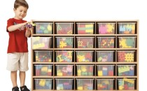 Young Time® 25 Cubbie-Tray Storage – with Clear Trays